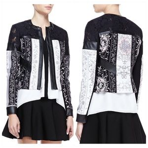 BCBG MAX AZRIA ✨ lace and paisley print jacket